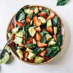 avocado strawberry salad #healthy