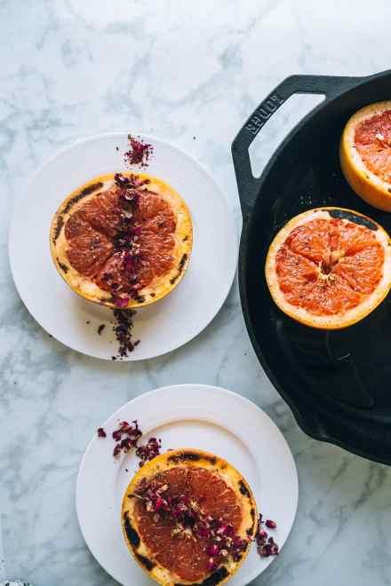 honey and rose broiled grapefruit #recipe #breakfast