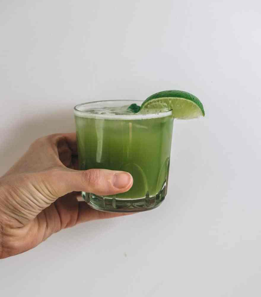 Matcha Basil Limeade (paleo, refined sugar free)