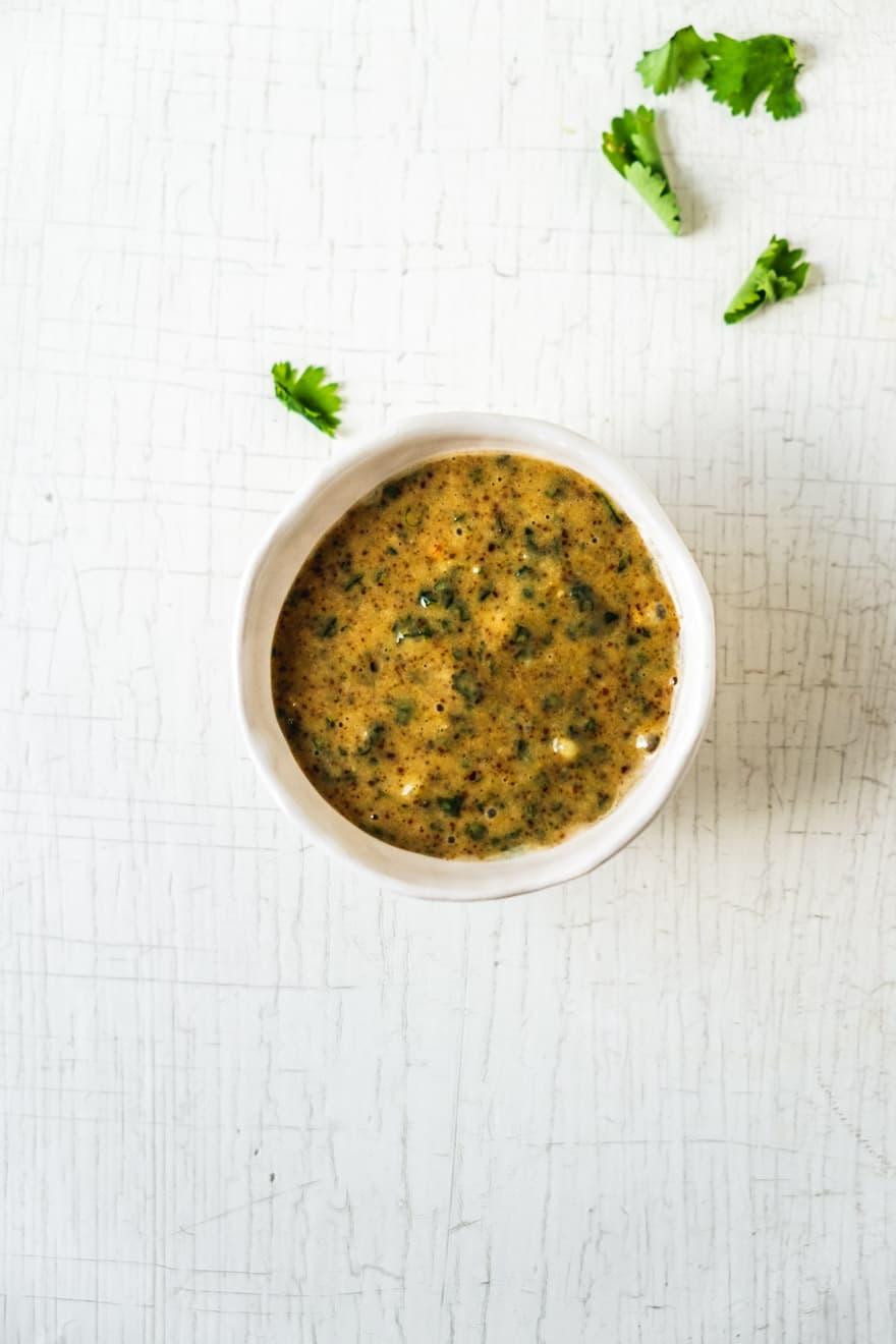 miso cilantro dressing