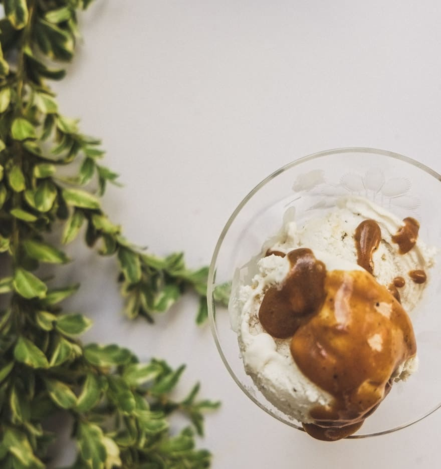 orange cardamom caramel recipe. Made with Ghee and coconut milk. Delicious on ice cream!