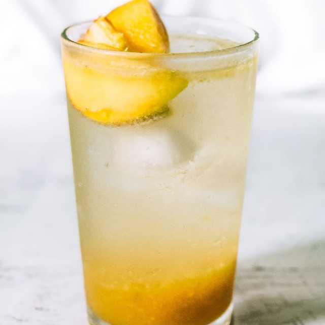 Peach Honey Rosemary Shrub