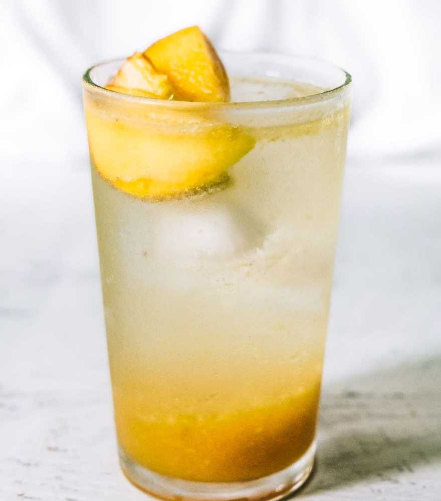 Peach Honey Rosemary Shrub