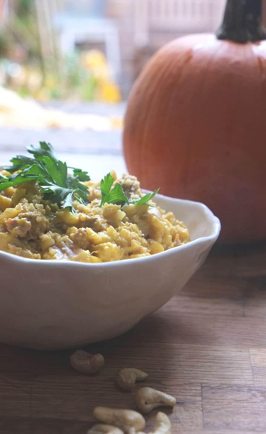pumpkin cauliflower risotto. #creamy #paleo