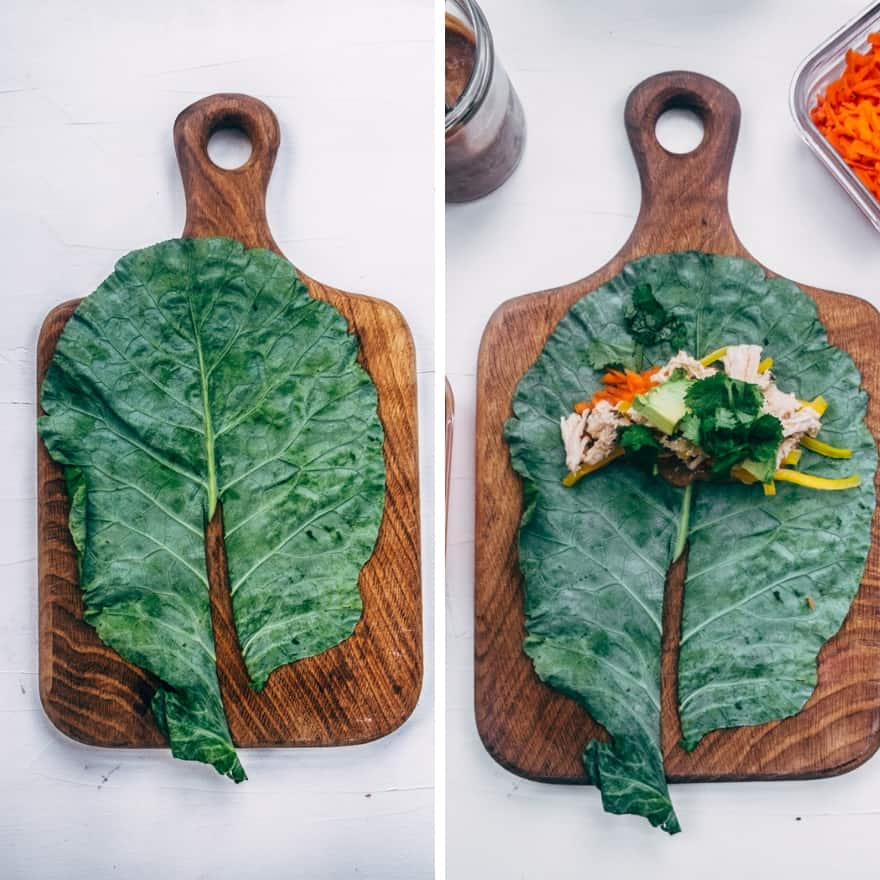 Thai chicken collard wraps #whole30 #paleo