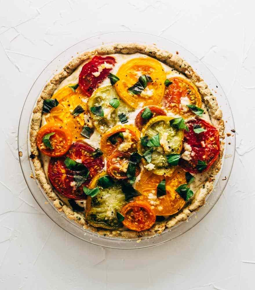 Paleo Tomato Tart #glutenfree #dairyfree #healthy
