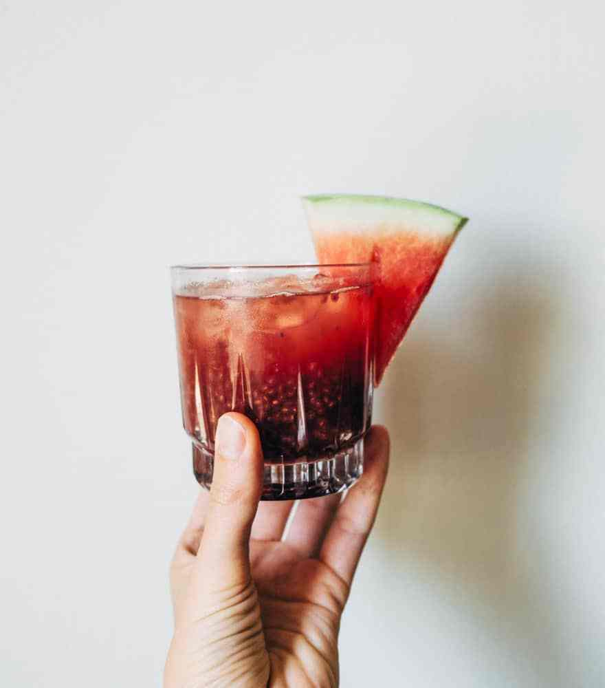 Watermelon and Holy Basil Chia Fresca
