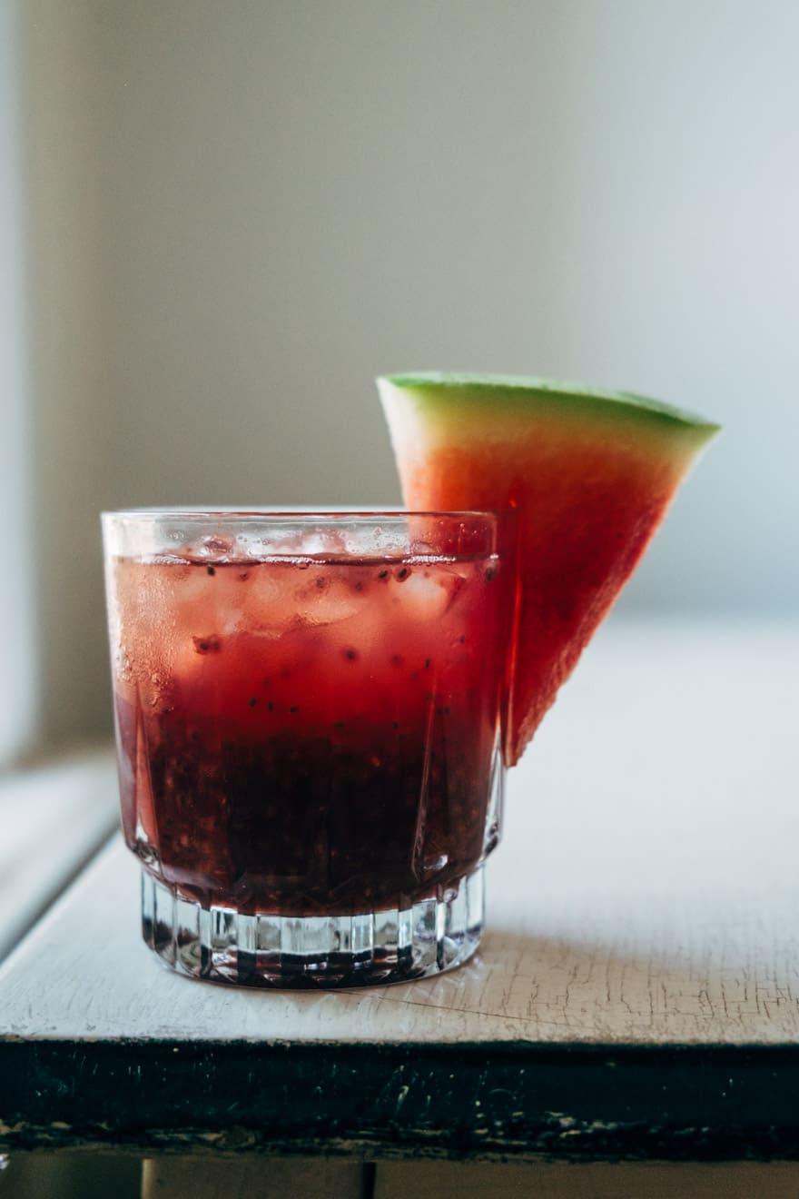 watermelon & holy basil chia fresca #recipe #healthy #paleo