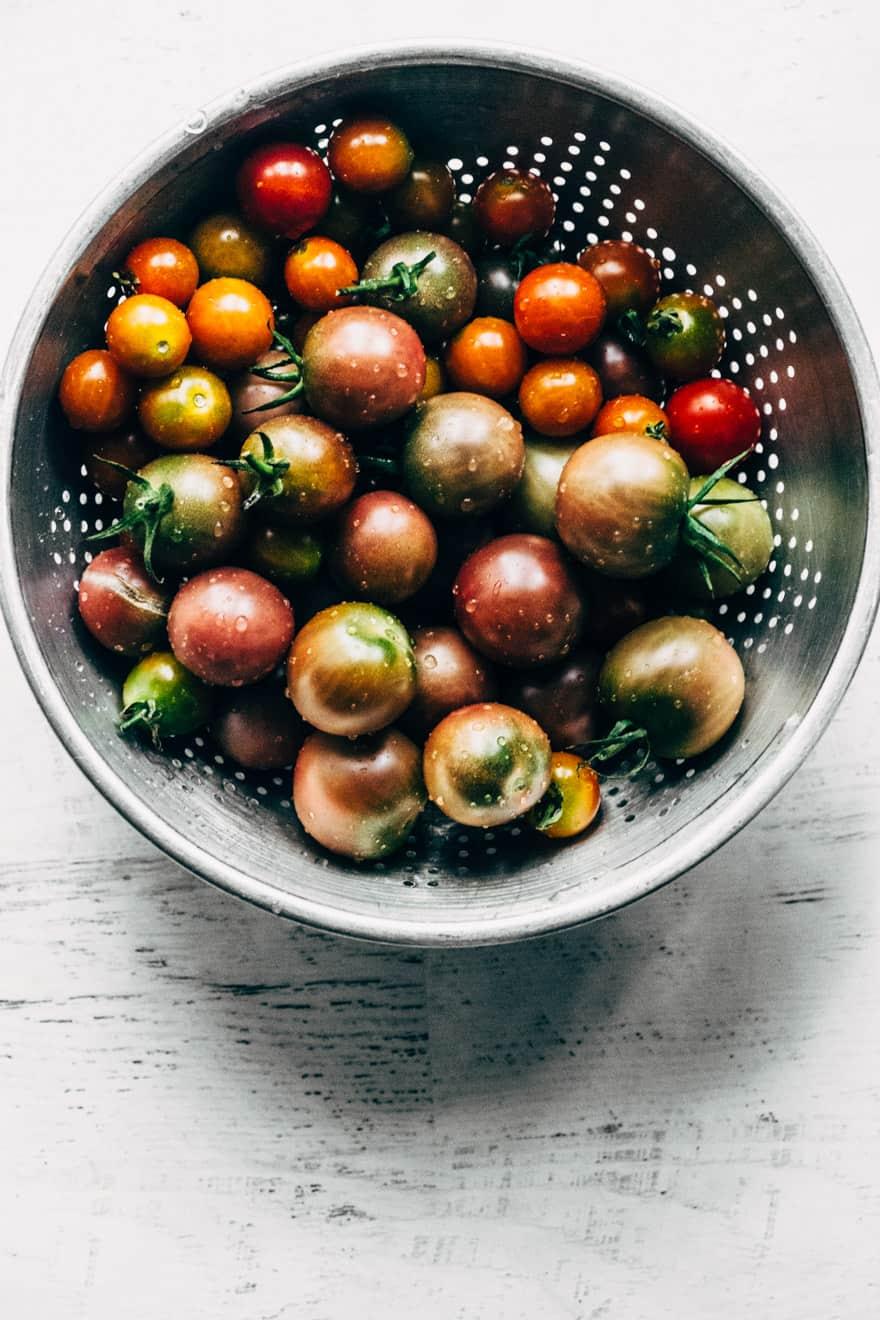 wild rice and nectarine salad #healthy #salad #nectarine #tomatoes