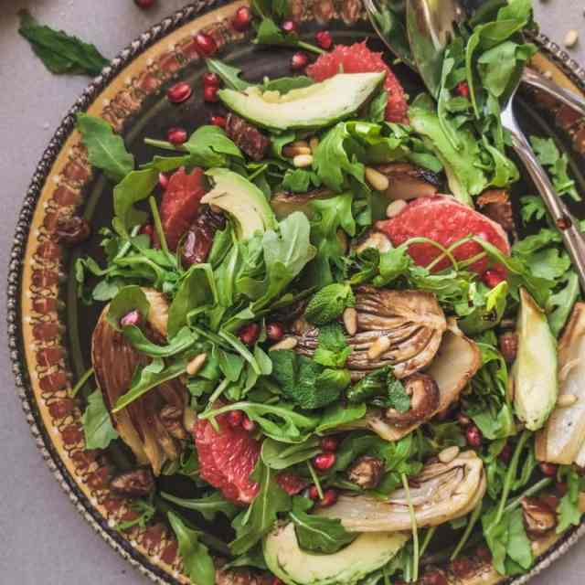 Grapefruit Winter Salad with Roasted Fennel and Avocado