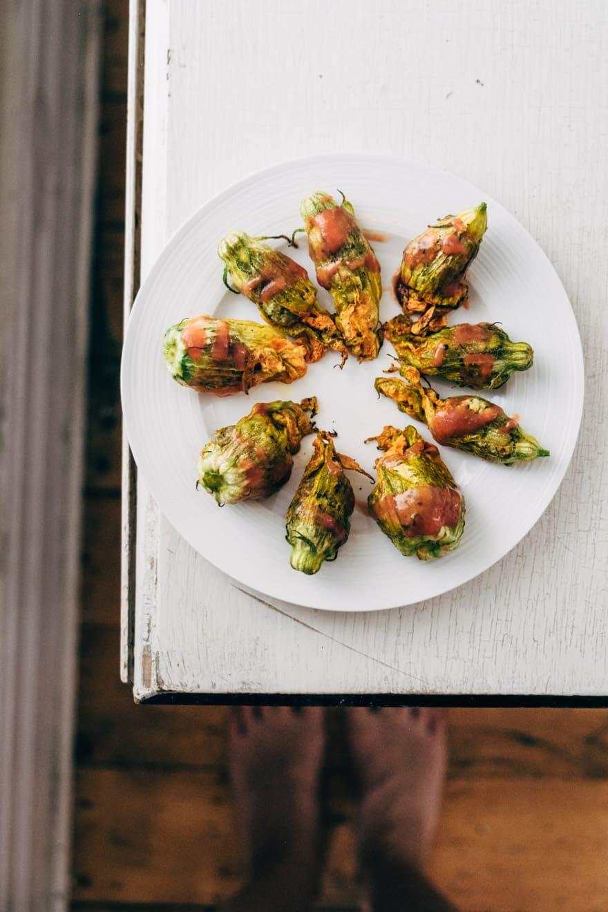 roasted squash blossoms #vegan #paleo #healthy