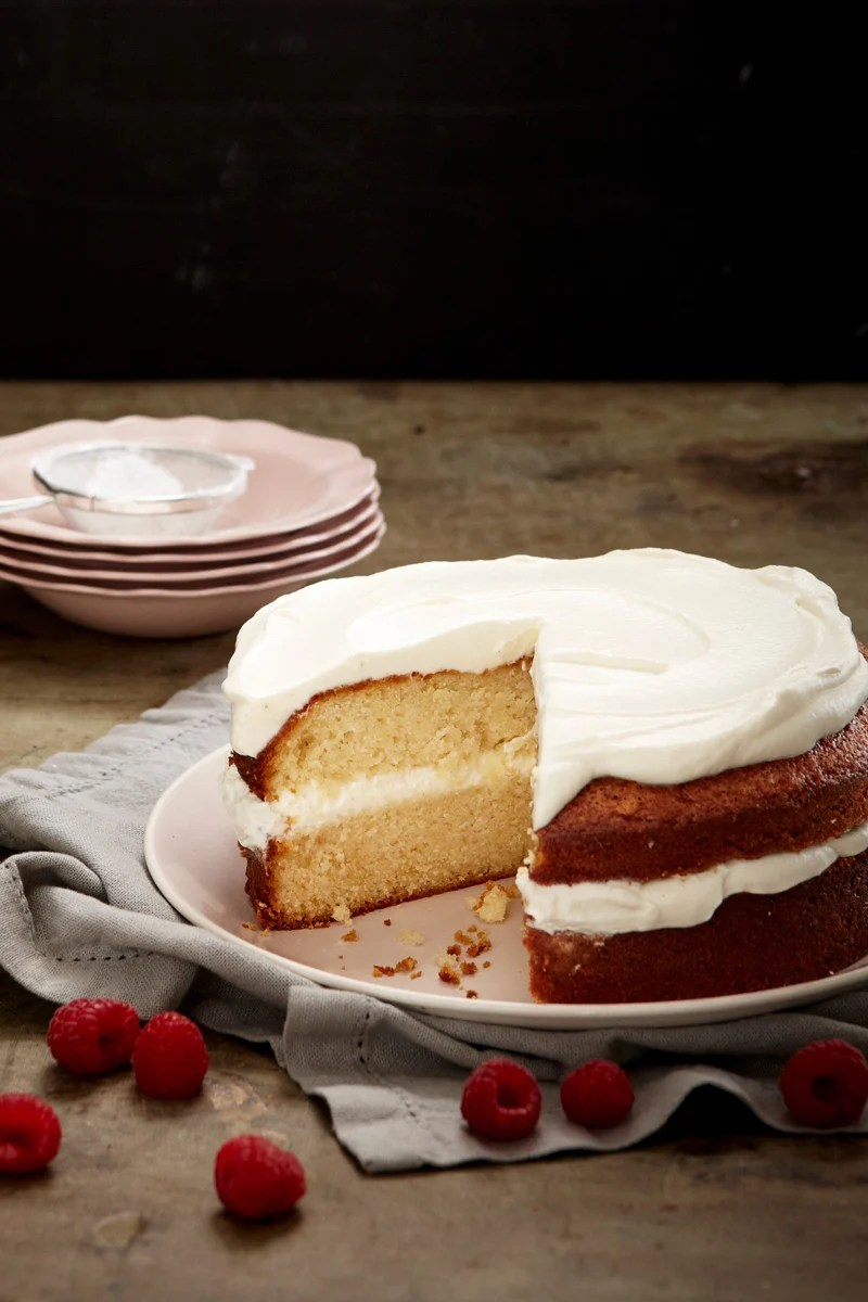 SWEETLY Vanilla Cake with Vanilla Butter Icing