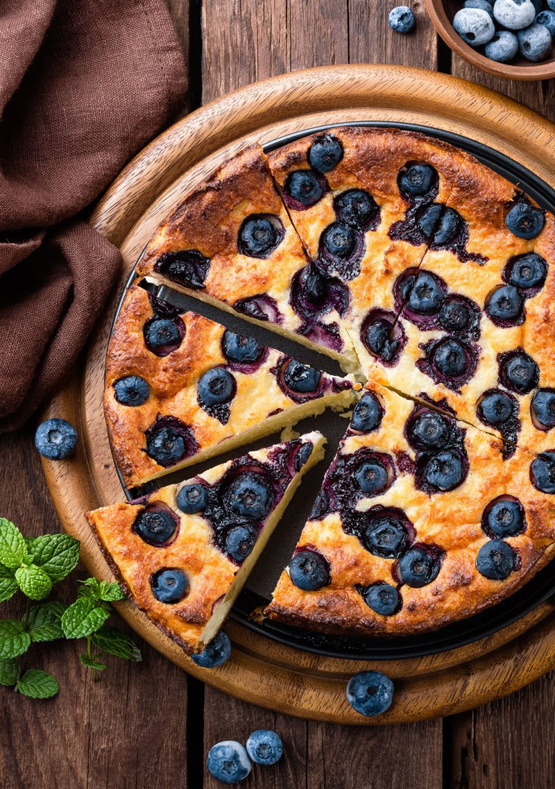 Sugarless Blueberry Cheesecake Using SWEETLY Baking Sugar Substitute