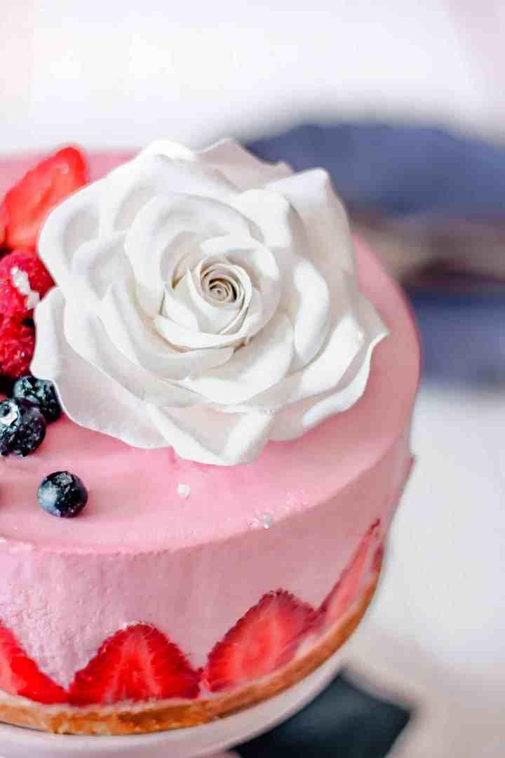 Dessert cheesecake aux fraises sans cuisson