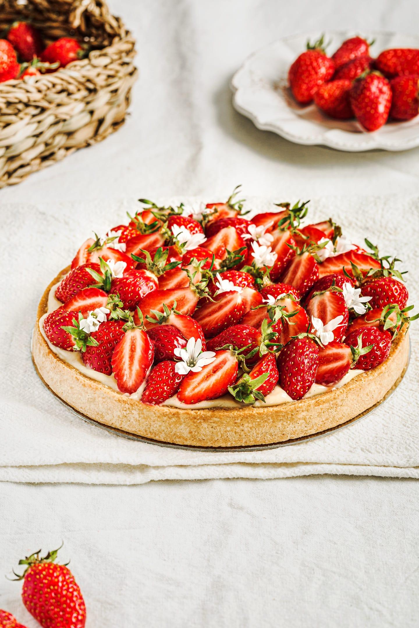 Comment faire la recette de la tarte aux fraises classique