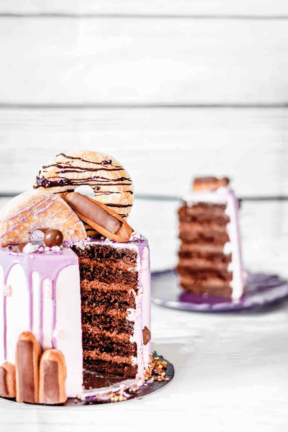 Layer cake au chocolat fondant
