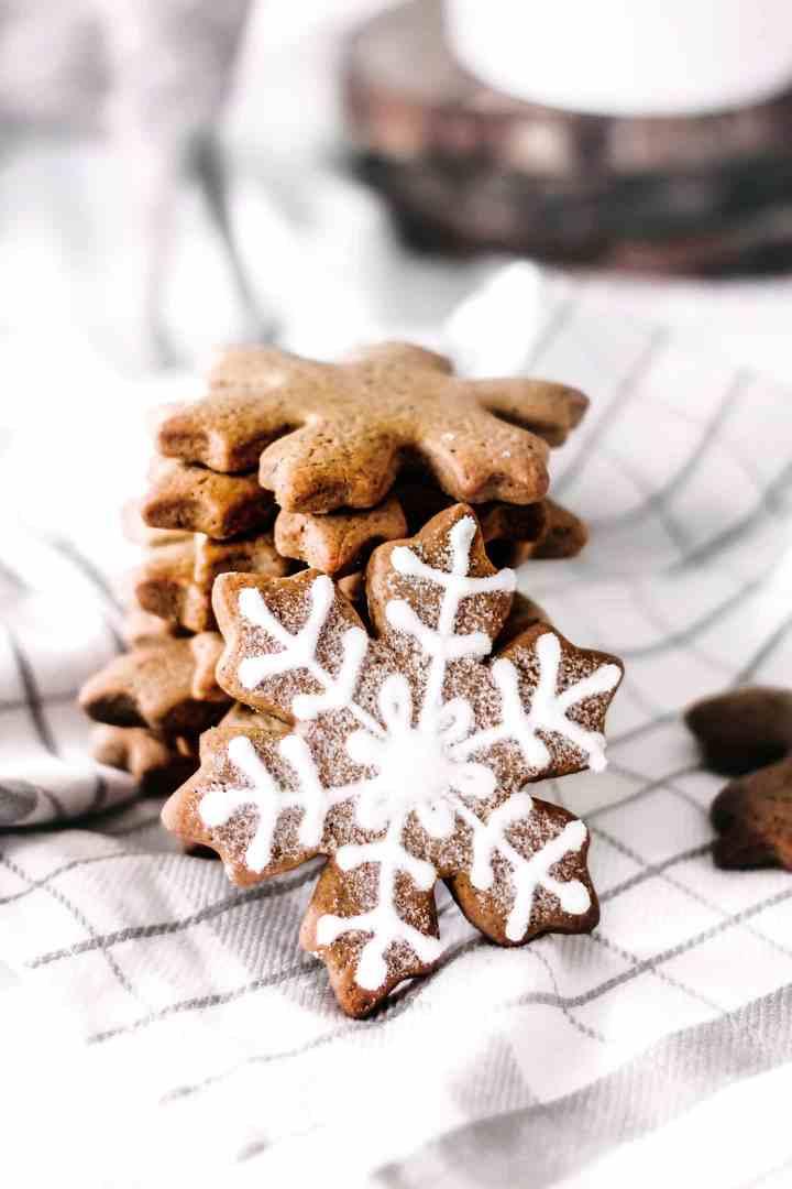 Biscuits flocons de neige aux épices