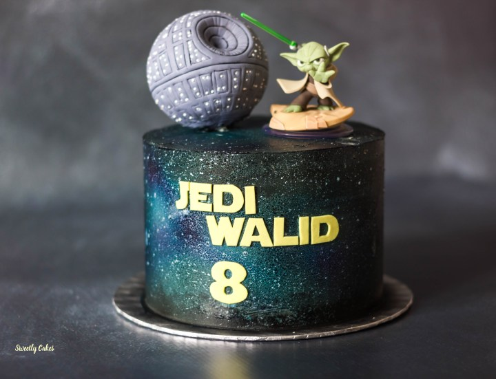 star wars galaxie cake