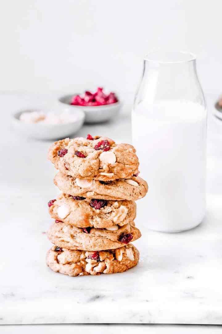 White chocolate cranberry cookies recipe