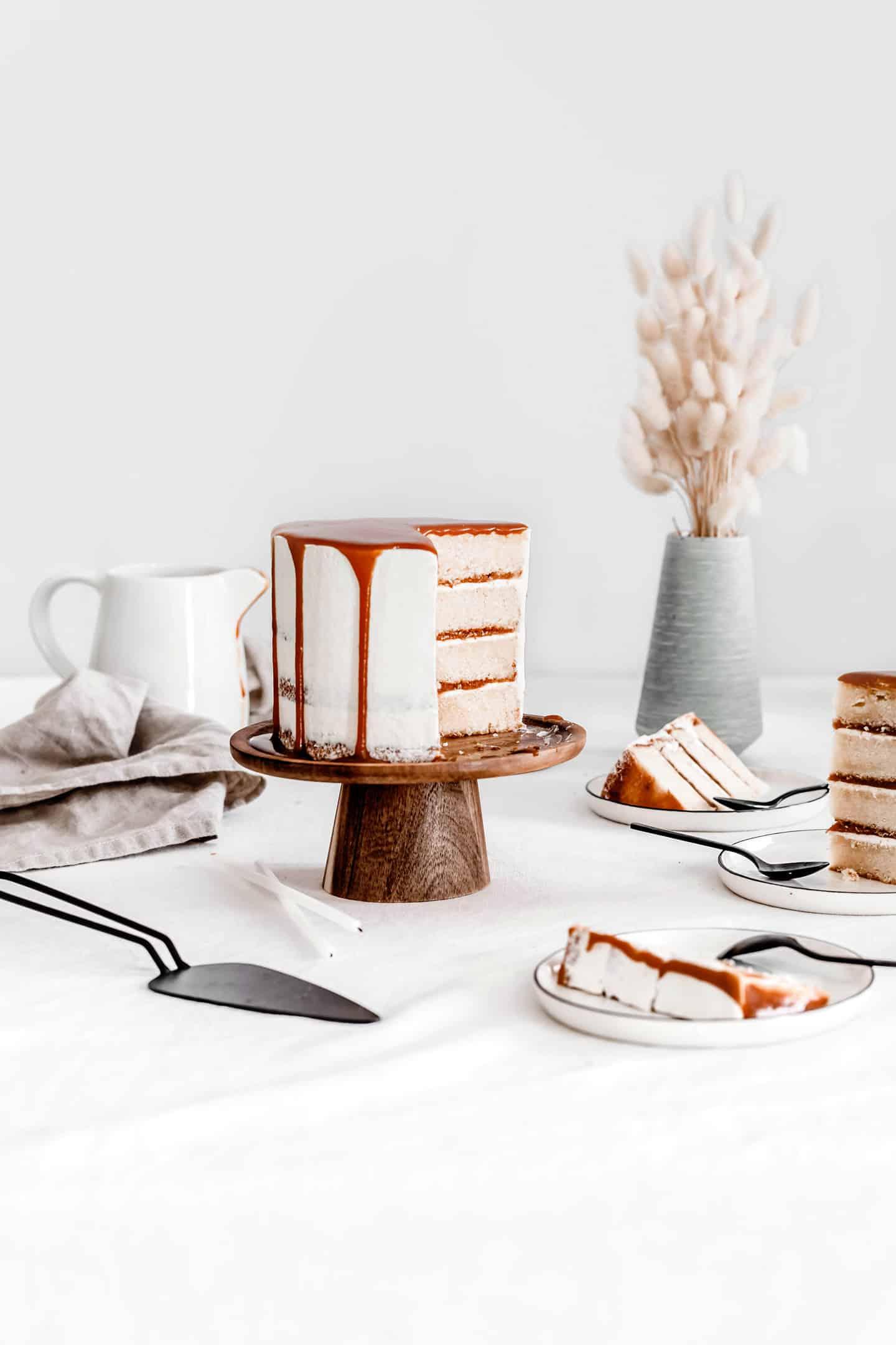 Layer cake au caramel au beurre salé