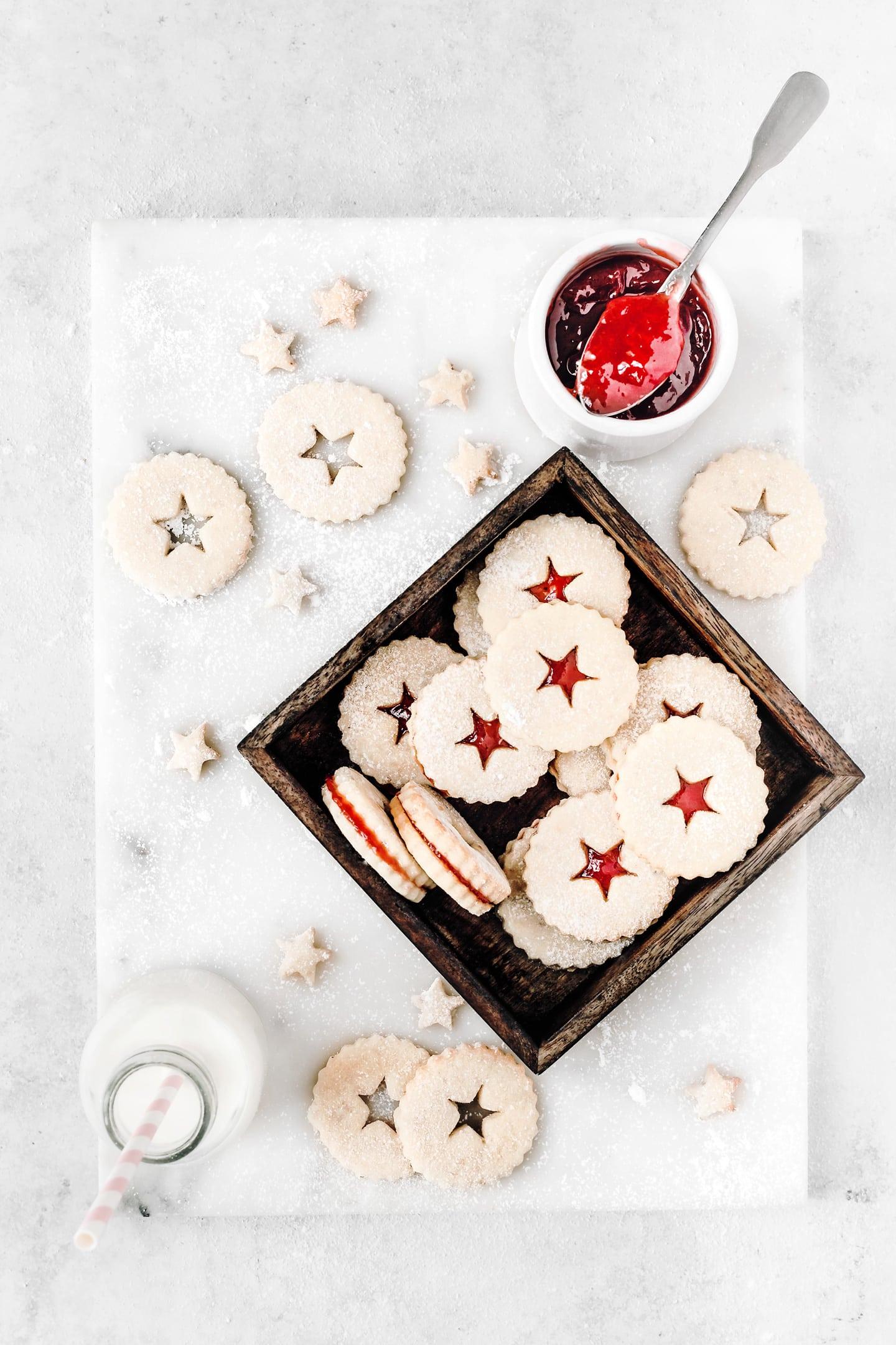 Biscuits confiture sablés linzer