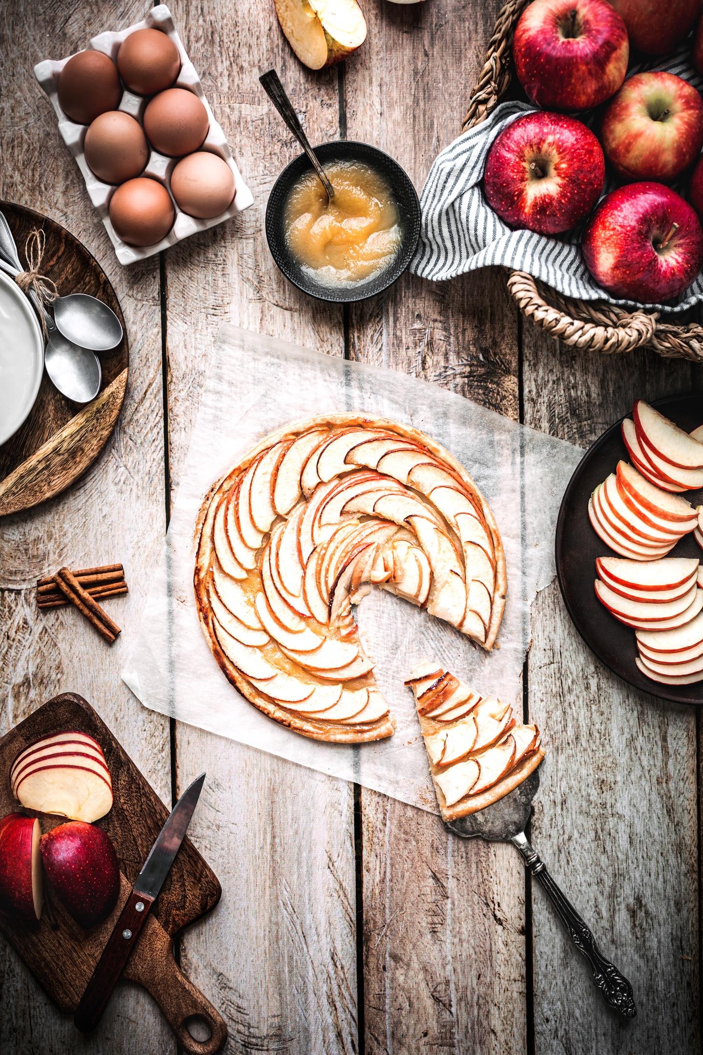 Tarte fine feuilletée aux pommes