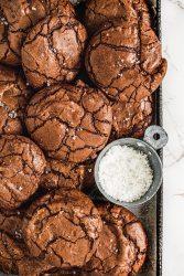 Fugy chocolatey brownie cookies recipe