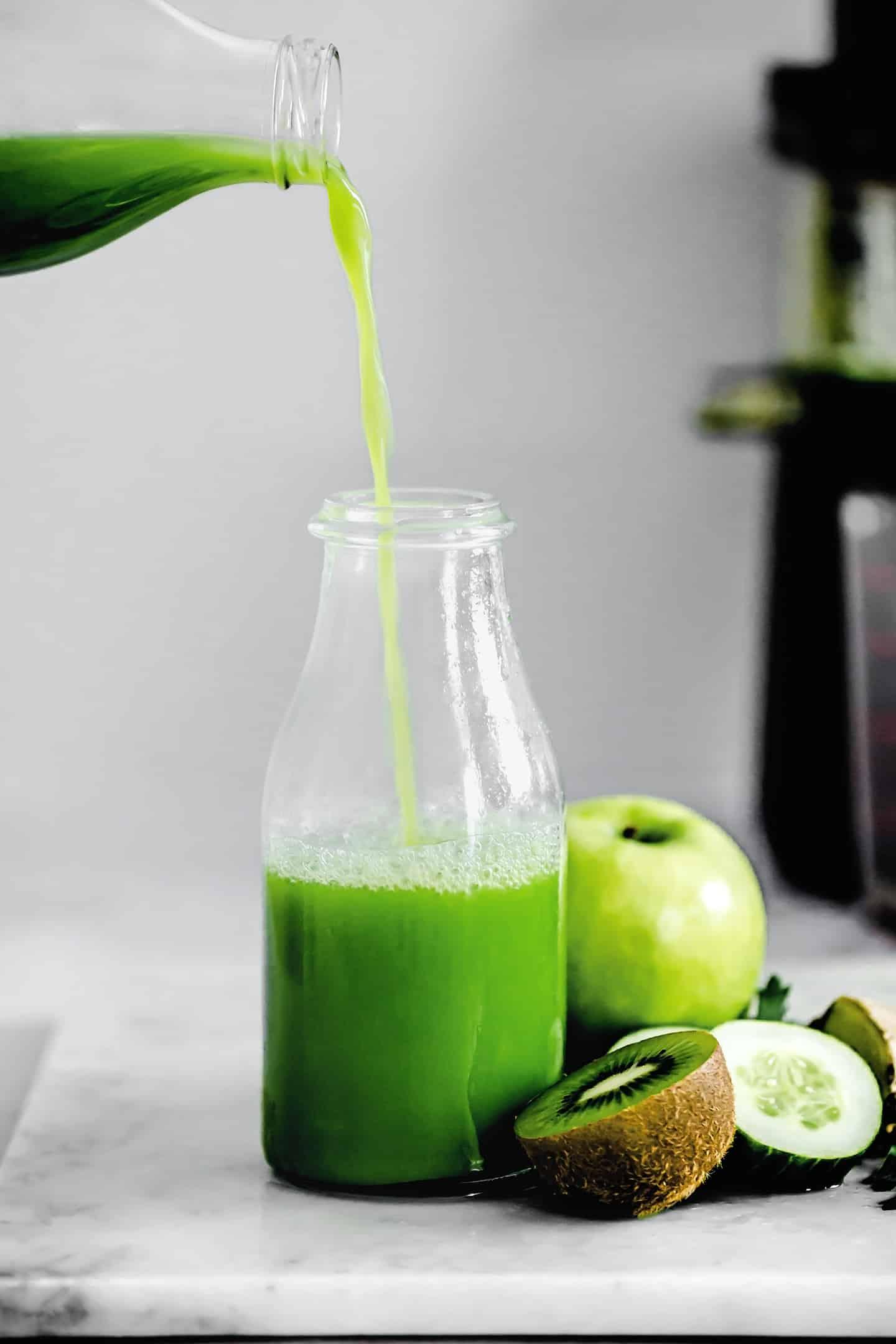 Jus vert détoxifiant