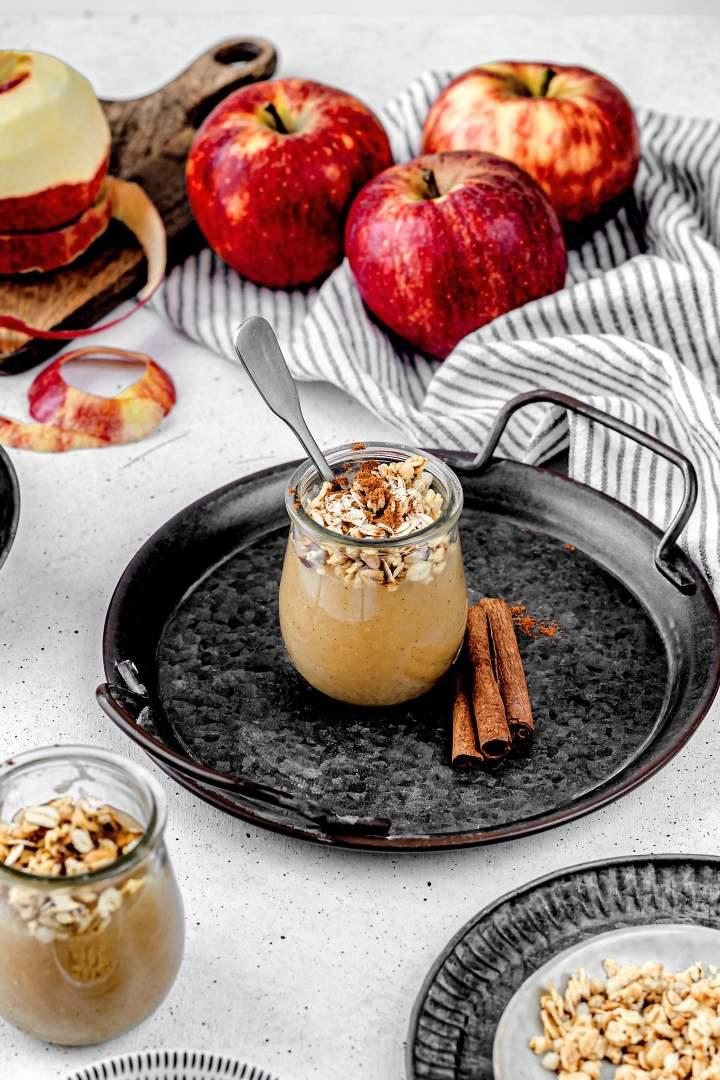 Homemade cinnamon applesauce