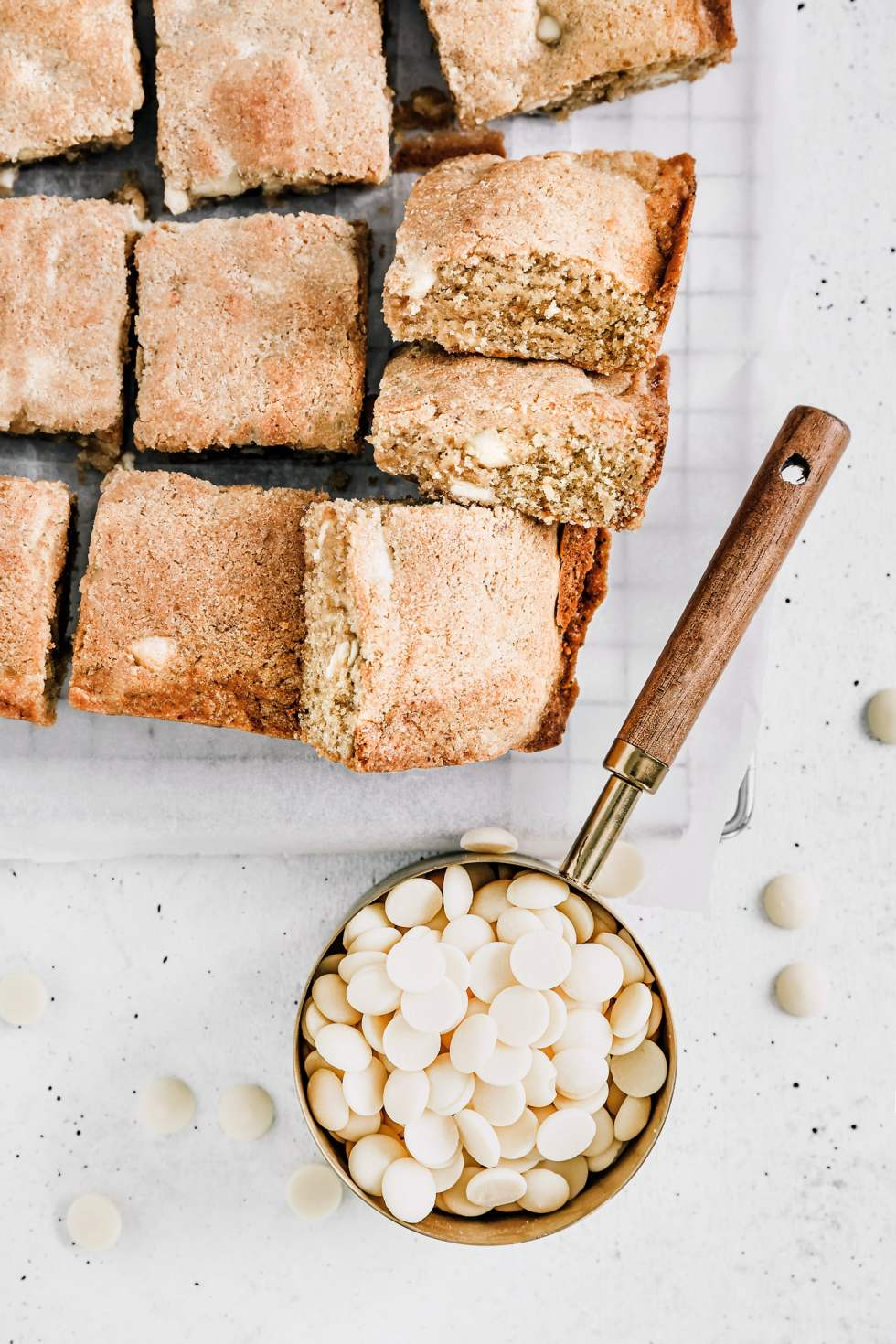 Blondies au chocolat blanc