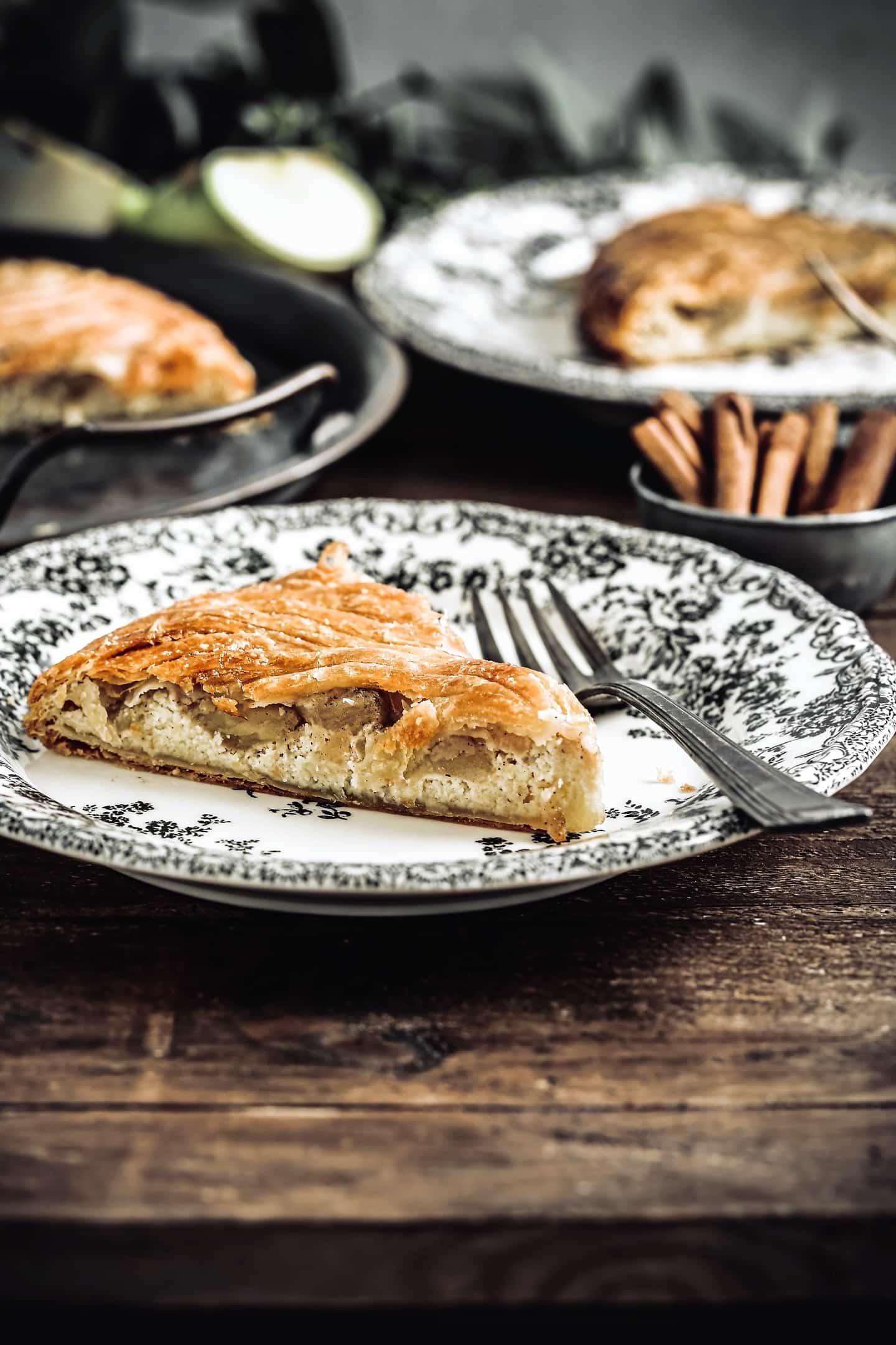 Homemade french apple galette des rois