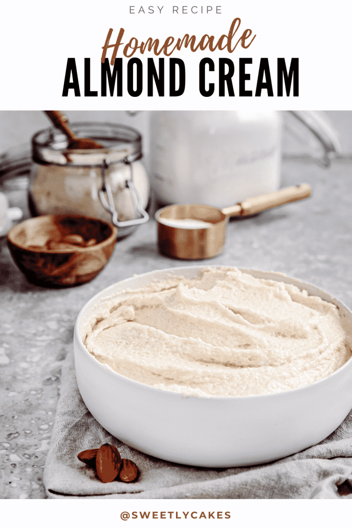 Homemade French almond cream recipe