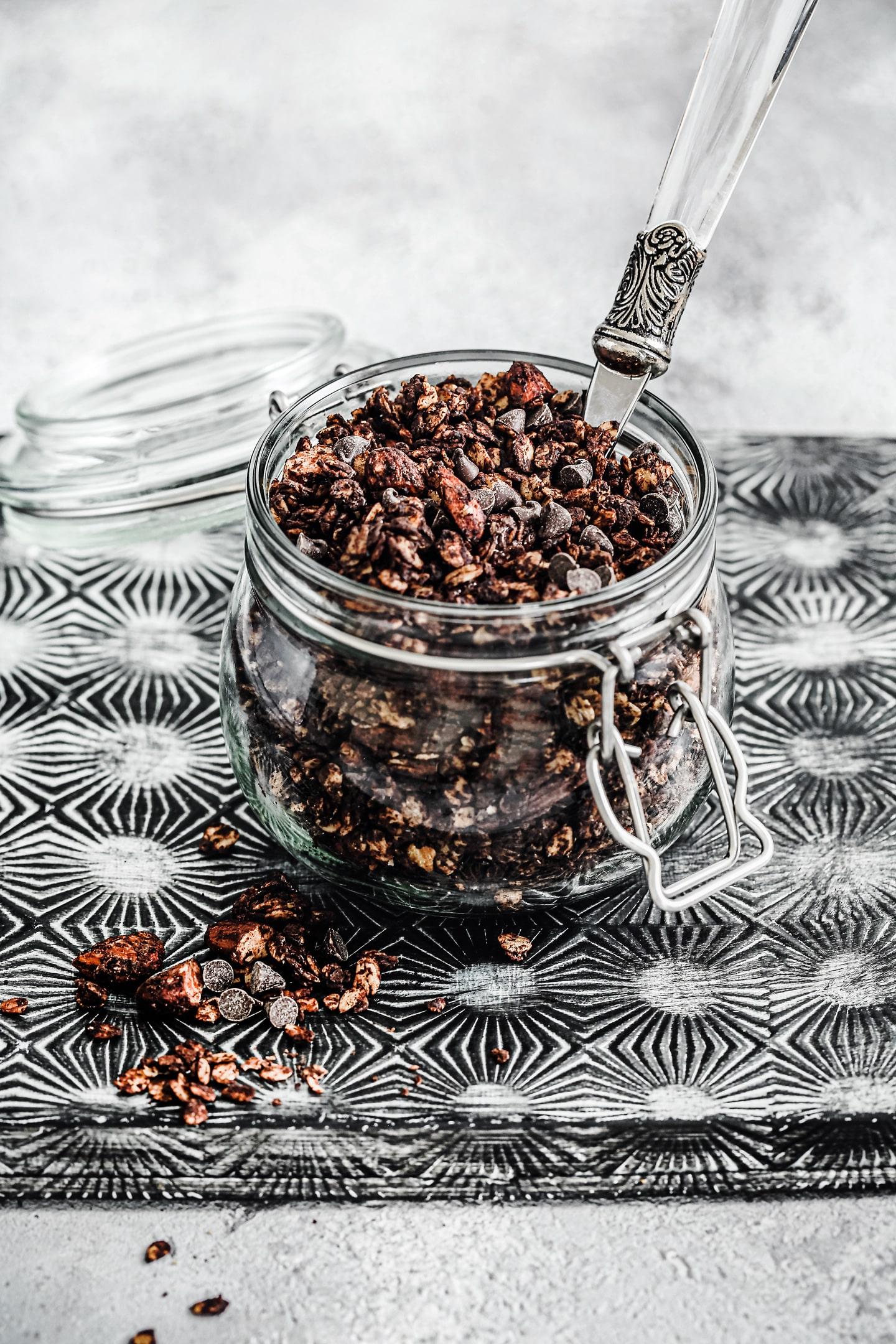 Muesli granola au chocolat