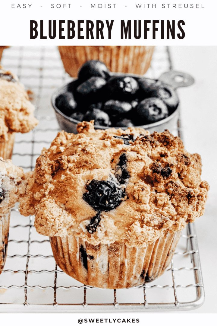 How to make the best lemon blueberry muffins recipe with an easy streusel crumbre topping! These muffins have the perfect combination of soft and light texture with the sweet and tangy taste of blueberries and a crunchy crust.