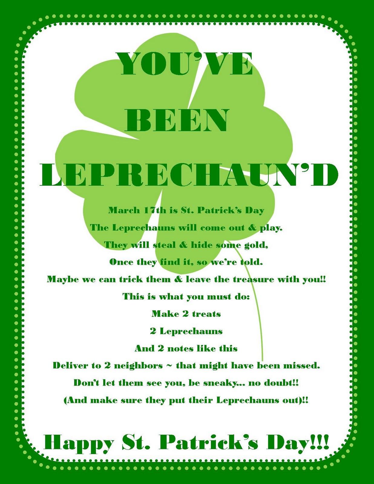 You Ve Been Leprechaun D Game Free Printable