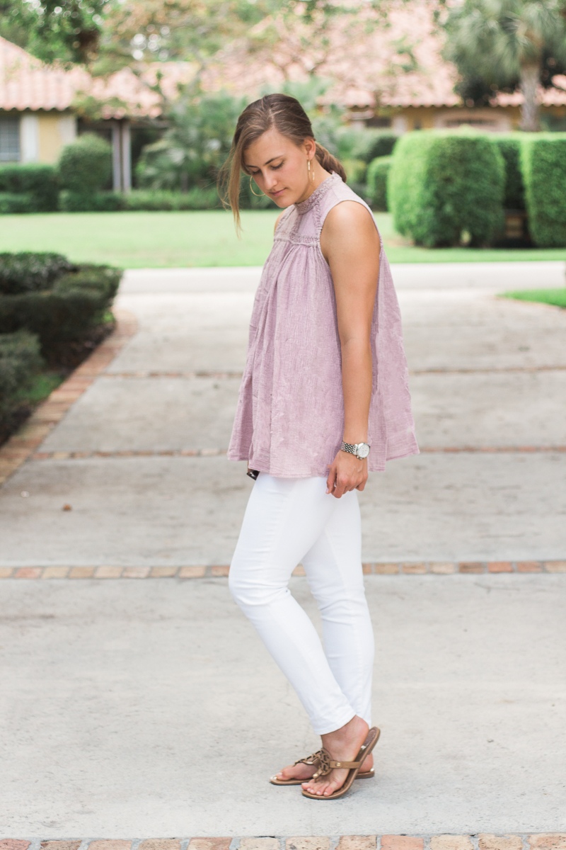 My 2017 Summer Plans // #sallyjetsets // A fashion post on sweetly sally with white jeans and pink sleeveless top!