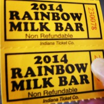 The coveted milk bar tickets!