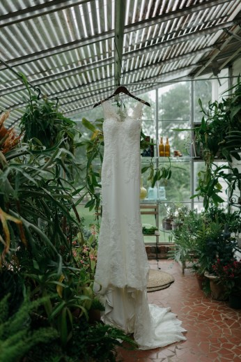 Gown in Greenhouse