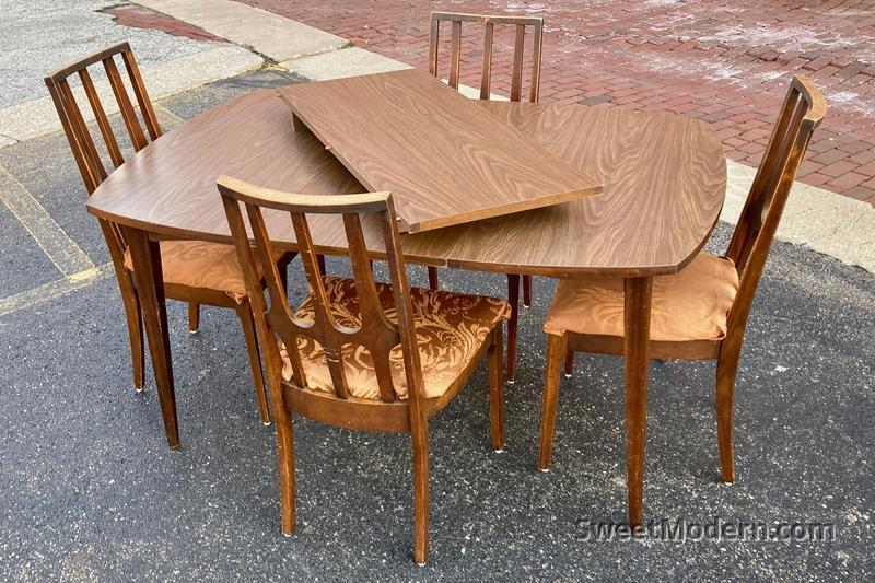 broyhill brasilia dining table chairs vintage mcm dining chairs benches sweet modern akron oh