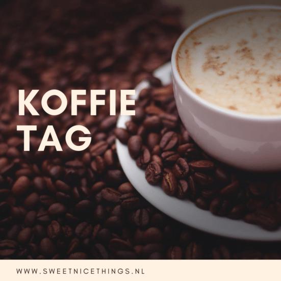 Een leuke tag:  de koffie tag!