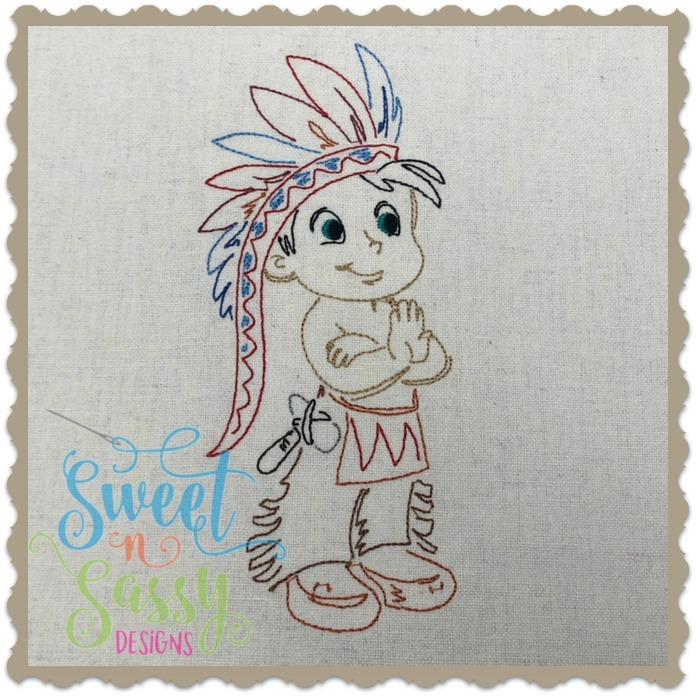 Indian Boy Simple Sketch Sweet N Sassy Designs