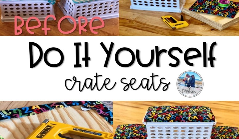 DIY Storage Crate Seats
