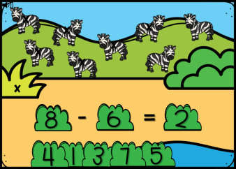 Subtraction Within 10 Safari Adventure Boom Cards