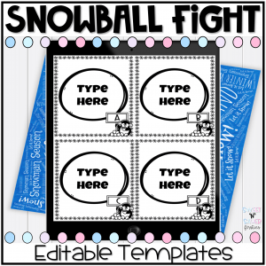 Editable Snowball Fight Template