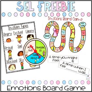 Emotions Board Game Freebie