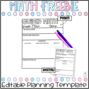 Guided Math Planning Template Freebie