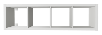 make a bench seat with Ikea Kallax bookshelves