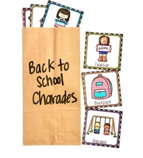 back to school charades freebie
