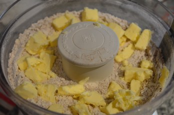 Mix Flour mixture and Butter using fodd processor