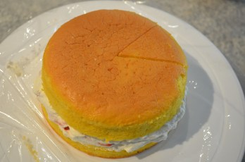 Cover with the second half of the cake